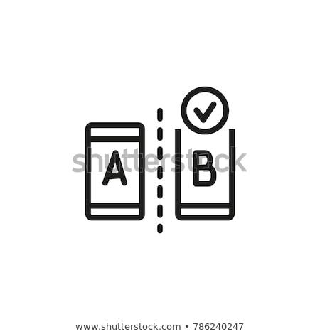 AB Testing Icon. Flat Design. Stock photo © WaD