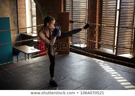 Shot bokser ring ernstig man sport Stockfoto © deandrobot
