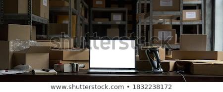 laptop · scherm · b2b · moderne · werkplek · tonen - stockfoto © tashatuvango