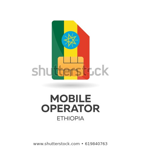 Ethiopia mobile operator. SIM card with flag. Vector illustration. Stock photo © Leo_Edition
