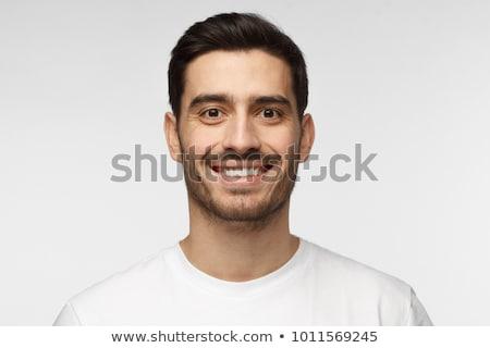 Yüz portre pembe gömlek Stok fotoğraf © filipw