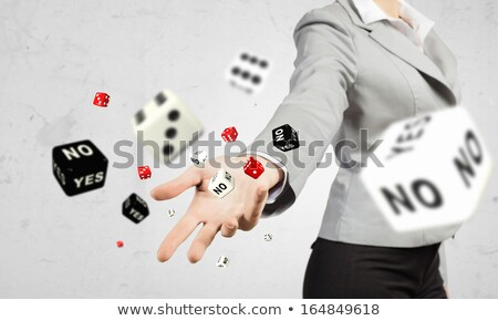 Yes or No Black Dice Stock photo © make