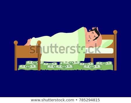 Empresario dormir cama efectivo dinero almohada Foto stock © MaryValery