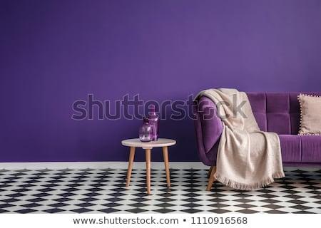 Dark Purple Wooden Background With Copy Space Stock photo © Nelosa