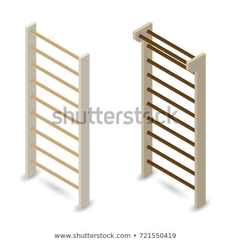 壁 3D 木製 鋼 壁 孤立した ストックフォト © kup1984