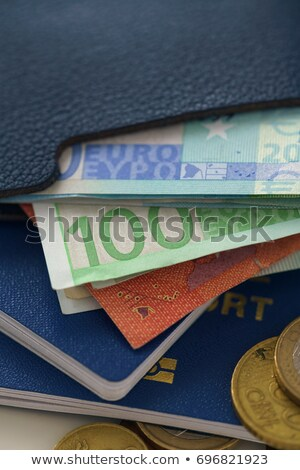 Euro banknotes and coins lie on biometric passports. Stock photo © vlad_star