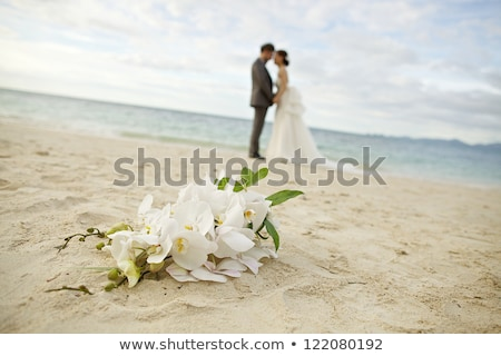 Bride Bouquet Wedding Silhouette Design Stock photo © Krisdog