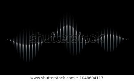 Grafik müzikal ekolayzer ses dalgalar siyah Stok fotoğraf © m_pavlov