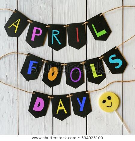 1 April Fools Day congratulation Stock photo © alexanderandariadna