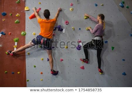 ストックフォト: 背面図 · 選手 · 岩クライミング · 健康 · クラブ · 男性