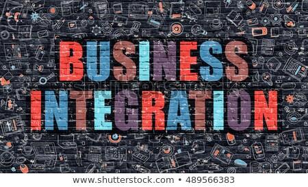 business · integratie · model · achtergrond · informatie · engineering - stockfoto © tashatuvango