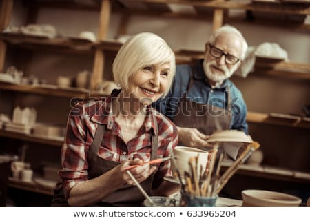 男性 手 絵画 ボウル 陶器 ワークショップ ストックフォト © wavebreak_media