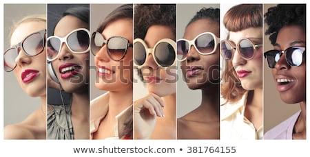Gruppe Menschen tragen Sonnenbrillen Frau Mann Sicherheit Stock foto © IS2