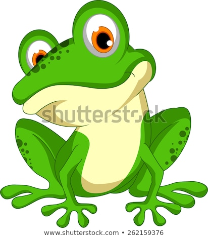 Green frog with happy smile Stock photo © bluering