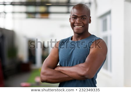 Portrait souriant afro sport homme Photo stock © deandrobot