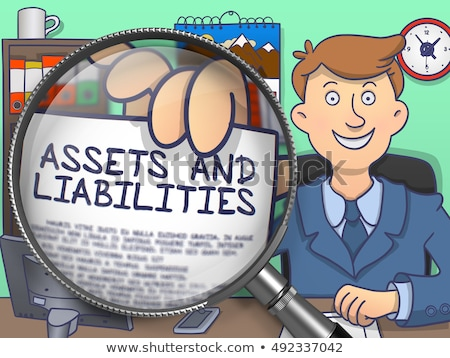 Capital Assets through Magnifier. Doodle Style. Stock photo © tashatuvango