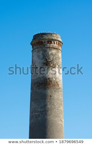 старые · дымоход · дымчатый · изолированный · Blue · Sky · дома - Сток-фото © 5xinc