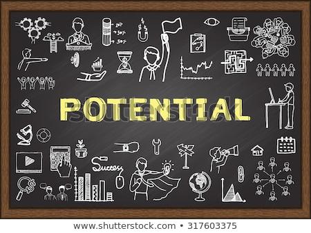 Hoog potentieel schoolbord werken tabel Stockfoto © tashatuvango