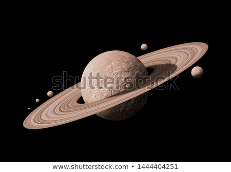 solar system   saturn isolated planet on black background stock photo © nasa_images