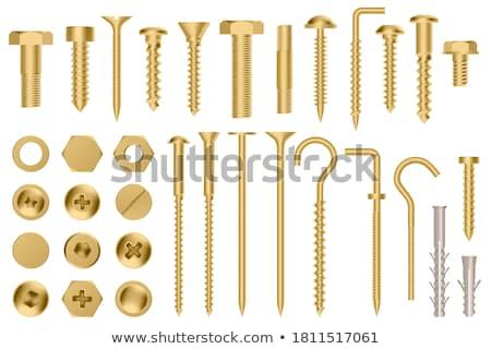 altın · dişli · 3D · iş · karakter · arka · plan - stok fotoğraf © tashatuvango