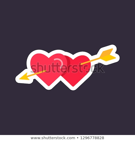 Two hearts with arrow. Love sign. Valentine's day greeting card  Stock photo © Terriana