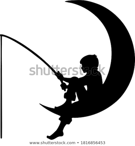 Fishing on a moon. Stock photo © Fisher