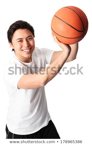 Chinese basketball player aiming Stock photo © IS2
