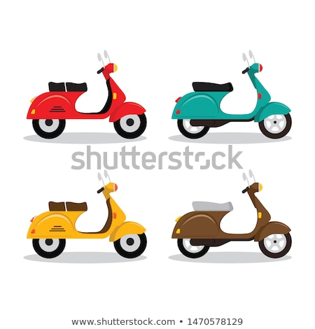 Vintage and modern scooters set Stock photo © studioworkstock