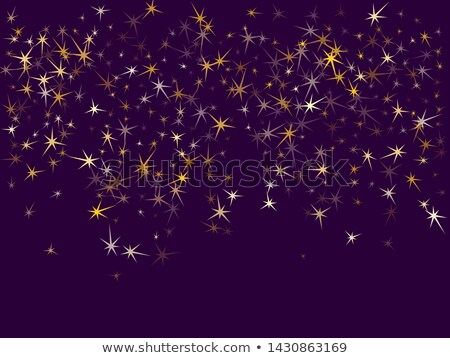 Ultra violet background with falling stars. Vector illustration. Stock photo © gladiolus
