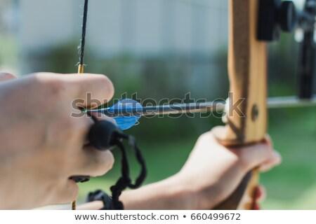 черный лук стрелка молодые Сток-фото © RAStudio