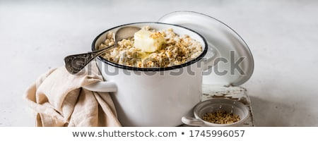old fashioned rolled oats stock photo © lana_m