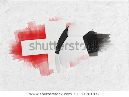 Zwart wit voetbal perkament voetbal sport bal Stockfoto © wavebreak_media