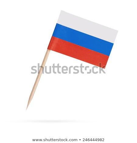 Russland · Flagge · Symbol · isoliert · offiziellen - stock foto © m_pavlov