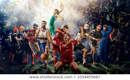 Voetbal sport actief voetbal bal licht Stockfoto © alexaldo