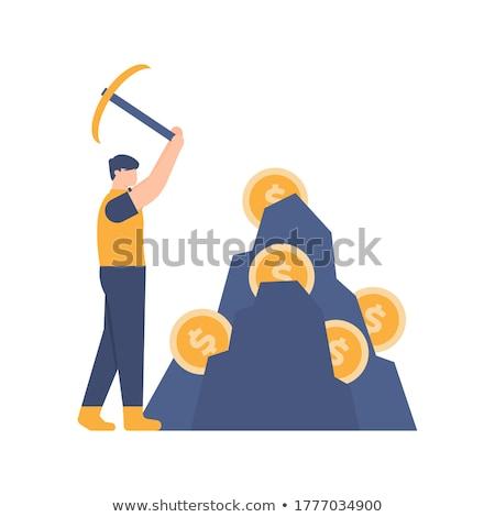 Bitcoin mijnbouw afbeelding video kaart vliegen Stockfoto © Genestro