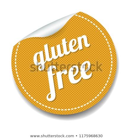 Gluténmentes címke fehér gradiens háló papír Stock fotó © cammep