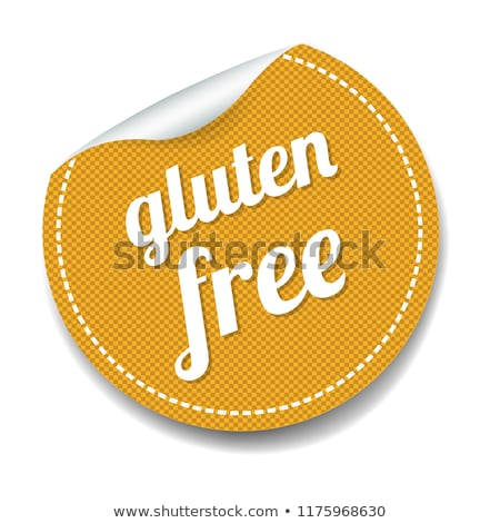 Glutenvrij label witte helling papier Stockfoto © cammep