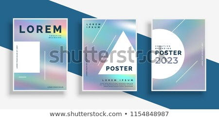 set of hologram flyers with text space Stock photo © SArts