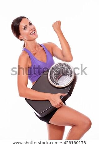 счастливым · женщину · масштаба · воздуха - Сток-фото © feedough