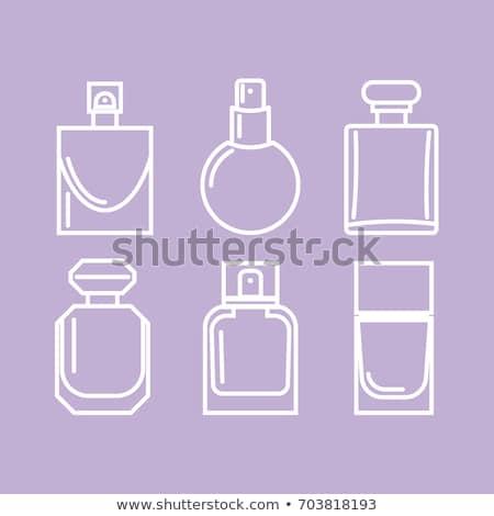 parfüm · üveg · virágmintás · illat · rózsaszín · díszek - stock fotó © dashadima