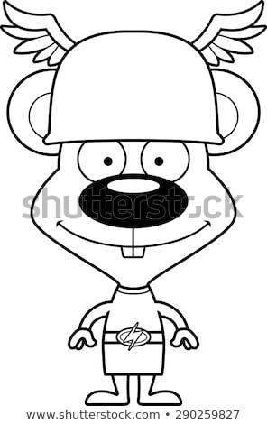 Cartoon Smiling Hermes Mouse Stock photo © cthoman
