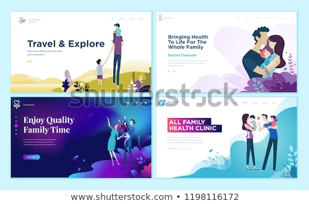 Time to Travel Web Pages Set Vector Illustration Stock photo © robuart