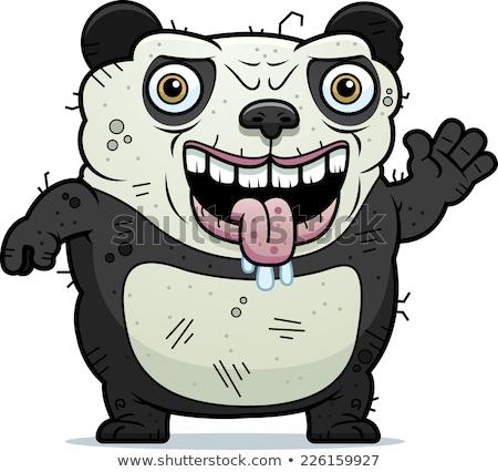 Brutto panda cartoon illustrazione orso Foto d'archivio © cthoman
