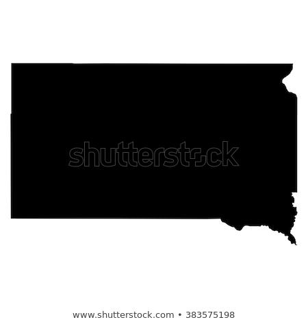 地図 · サウスダコタ州 · 米国 · ベクトル · 孤立した · 実例 - ストックフォト © kyryloff