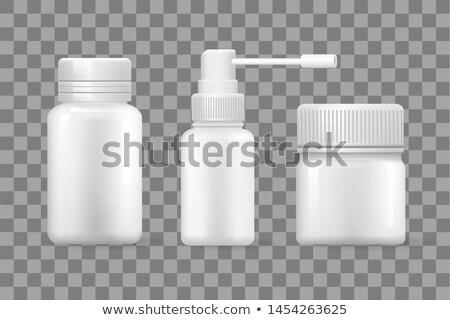 Tabletta aeroszol üvegek izolált 3D ikonok Stock fotó © robuart