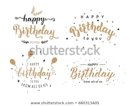 gelukkige · verjaardag · kaart · uitnodiging · ingesteld · grafisch · ontwerp - stockfoto © robuart