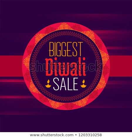 diwali sale poster design template in ethnic style stock photo © sarts
