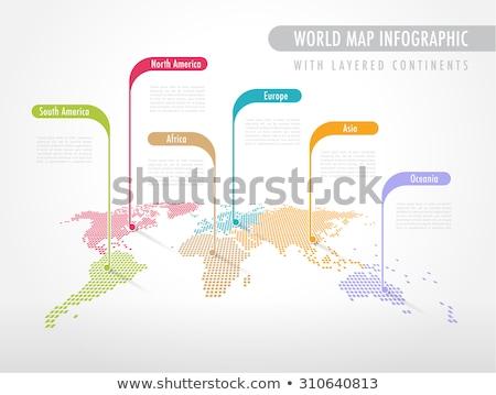 vector social network diagram world map concept stock photo © blumer1979