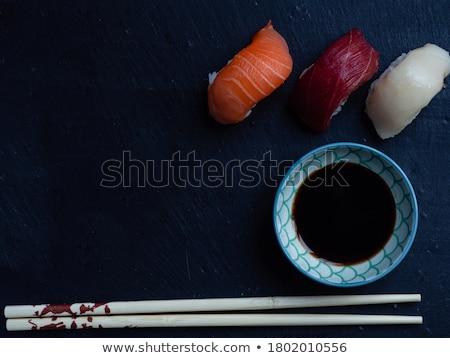 Az parçalar sushi rulo Kaliforniya iki Stok fotoğraf © Cipariss