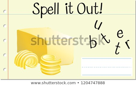 Spell English word butter Stock photo © bluering